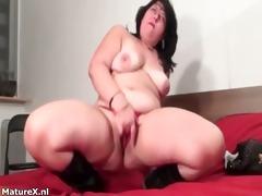 plump brunette hair experienced woman fingering