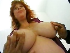 preggy mamma with massive milk sacks in some