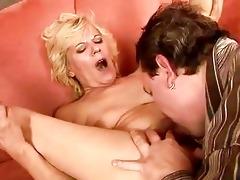 lewd granny masturbating and fucking