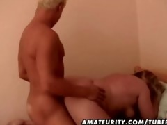 chunky non-professional older wife drilled by a