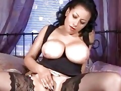 massive breasts on older in nylons wanking wet