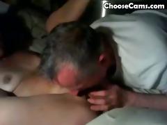 grand-dad giving grandma irrumation