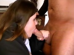 obese brunette hair older lady can engulfing part8