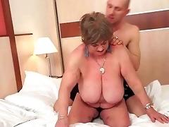 busty bulky grandma enjoying wicked sex