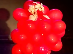 cabaret burlesque immodest martini baloon