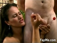 d like to fuck strokes a dick with her one as