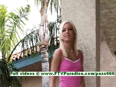 kacey charming blond playgirl flashing and