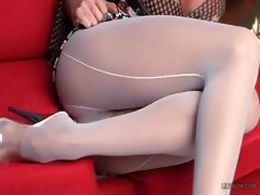 hawt white backseamed hose on the lengthy