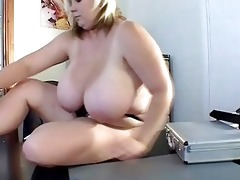 mega breasted blond mother i shows off her big