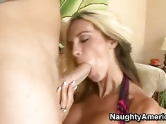 hot momma kalani breeze feeds her mouth with a
