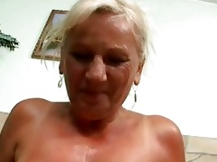 naughty busty granny in hard pov act