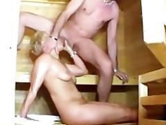 sauna sex with horny older babes german german