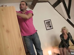 golden-haired mother in law seduces me into sex