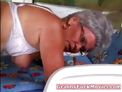 dude pounds granny her aged beaver