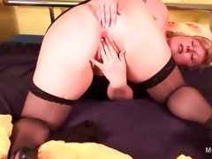 obese blond older gratifying her pink palatable