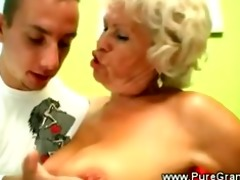 kinky granny blows younger dick
