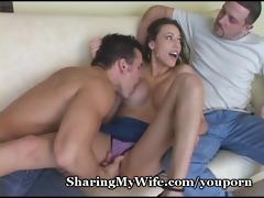 wifey screams as new jock fills her