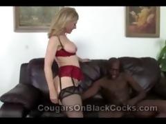 blonde cougar in nylons nina hartley rides beefy