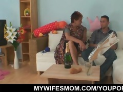 lusty grandma seduces hubby of her daughter