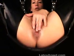 bizarre latex wife outlandish anal and cunt