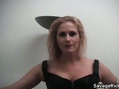 sexy darksome leather golden-haired mother i