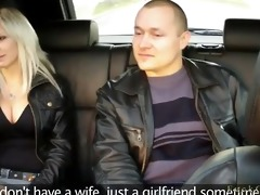 spouse watches wife fucking in taxi