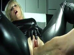 blonde wife violently fisted in her loose pussy