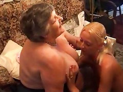 grandma eats a pleasant lesbi gal