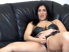 masturbation instructor demos jerk off on her