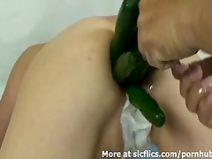 giant anal vegetable insertions