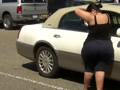 super thick latin chick milf in spandex with
