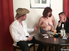 hard 5some with oldie after disrobe poker
