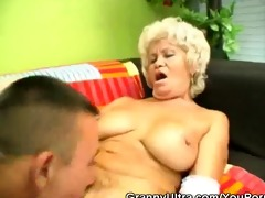 bushy snatch blond granny fucked