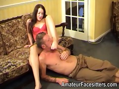 controlling her dude with her feet and ass
