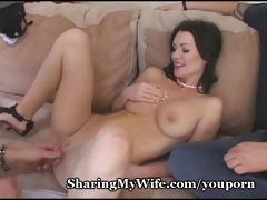 hungry wife feeds on fresh ramrod