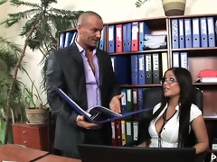 fantasy secretary angelica heart sucks off and