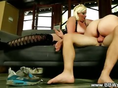 bbw sexually excited doxies take his cock in