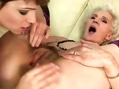 granny enjoys lesbo sex with youthful hotty
