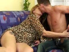 aged woman enjoys a cock