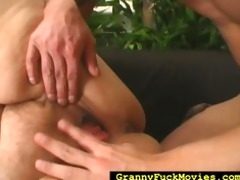 granny rolled over to receive drilled