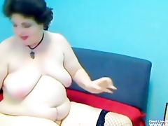 bushy aged big beautiful woman mellody masturbates