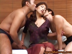 sexually excited japanese older honeys engulfing