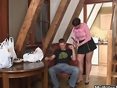 wicked mother in law jumps on his cock