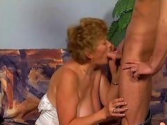 sweet granny fucking on sofa