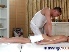 massage rooms youthful diminutive cutie takes