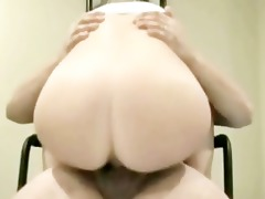 great homemade ejaculation over her butt