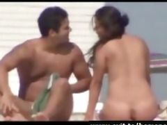 undressed beach spy compilation with aged couples