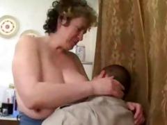 aged russian seduces chubby guy