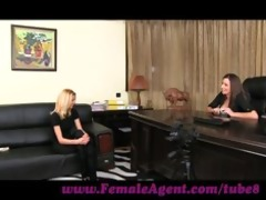 femaleagent. fascinating golden-haired needs no