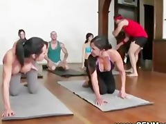 obscene yoga instructors nasty lesson